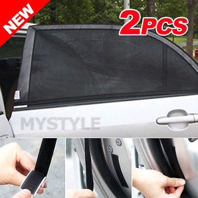 2x Universal Sun Shades Rear Seat Curtain Car Window Baby Protection