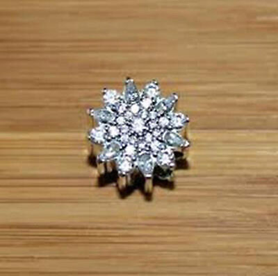 Genuine Pandora Sterling Silver Ice Crystals Charm Bead 791764CZ