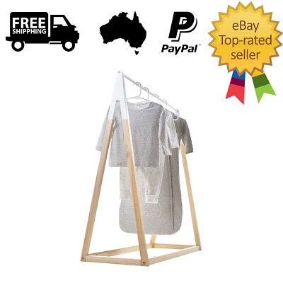 Scandinavian Style Nursery Clothes Rack Baby Clothing Childrens Hanger Portable