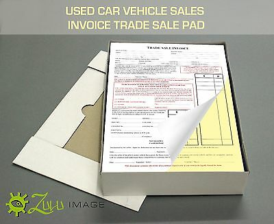 Used Car Sales Invoice/Receipt Vehicle Trade Sale Pads TOP QUALITY A4 Pads of 50