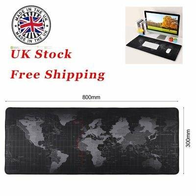80X30cm Large Non-Slip World Map Game Mouse Pad Mat For Laptop Computer Keyboard