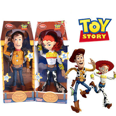 "16"" WOODY Talk Doll Toy Story 3 Pull String Figure Sheriff  kids Toys UK STOCK"