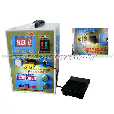 LED Dual Pulse Spot Welder 18650 Battery Charger 800 A 0.1 - 0.2 mm 36V 60A New