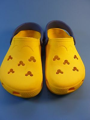 Crocs Yellow And Blue Rubber Disney Mickey Mouse Clogs Shoes Size Men 2 Women 4