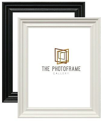 Wood Wooden Effect Picture Frames Poster Frame Various Square Size Black & White