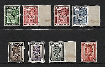 Somaliland 1938 KGVI stamps - Mint