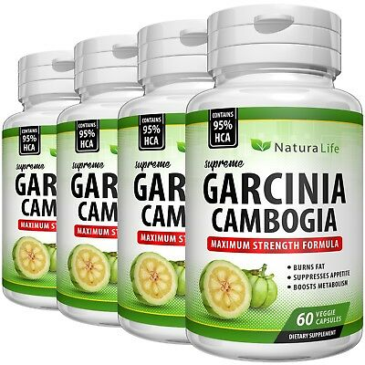 3000mg Daily Pure GARCINIA CAMBOGIA 95% HCA Slimming Diet Weight Loss Capsules