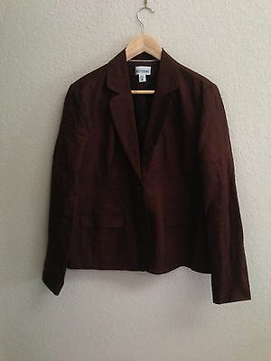 Motherhood Maternity Brown Linen Jacket Size L