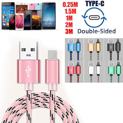 USB-C TypeC 3.1 Cable Nylon Braided Data Cable Charging Cord Rope For S8 S8 Plus