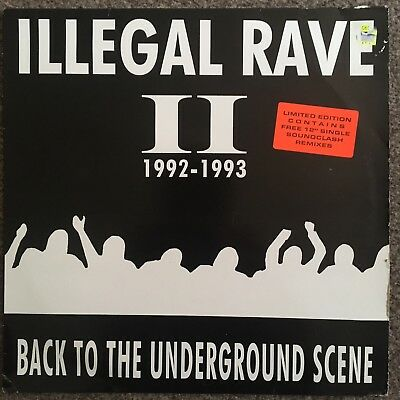 Illegal Rave II 92-93 Back To The Underground Scene Vinyl Record 12REALLY RARE!