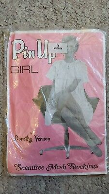 pin up girl seam free mesh stockings war time