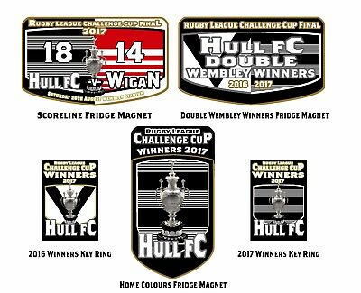 Rugby League Challenge Cup Final winners 2017 Hull FC Fridge Magnets and Key Rin