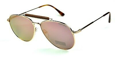 df620f918fd92 NEW Tom Ford TF536 Sean Sunglasses Col. 28Z Rose Gold w  Rose Gold Mirror