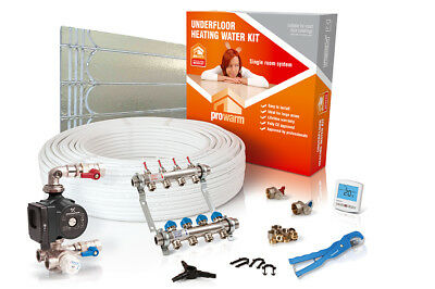 ProWarm low profile single room water underfloor heating kit - all sizes