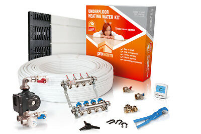 ProWarm low profile overlay single room water underfloor heating kit - all sizes