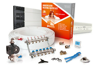 ProWarm low profile overlay multi room water underfloor heating kit - all sizes