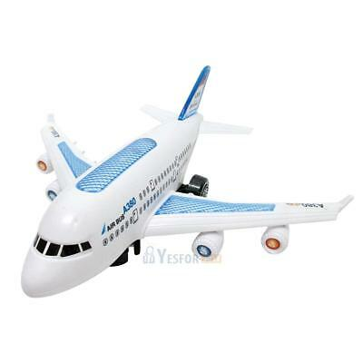 Electric Air Bus Model Flashing LED Light Kids Musical Airplane Toy Gift #3YE