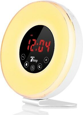 Thinp Alarm Clock, Wake Up Light With Sunrise Simulation And Snooze Function,