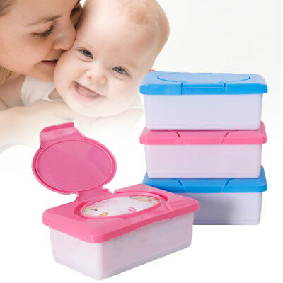 Reusable Dry Wet Tissue Paper Case Baby Wipes Storage Box Holder Container