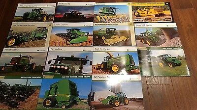 Lot of 15 John Deere Tractor Brochures Dealer  combines sprayers cotton stripper
