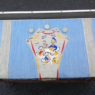 VINTAGE DONALD DUCK TOY CHEST WALT DISNEY BOX TRUNK 1950's 1960s EXTREMELY RARE