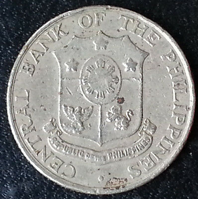 1964 Phillipines 25 Cents Old Coin Nice Liberty Money