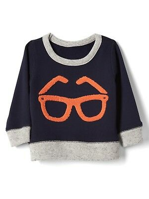 Ivory Cloud Sweatshirt Sweater Top GAP Baby Boy Size 6-12 Months NWT Navy Blue