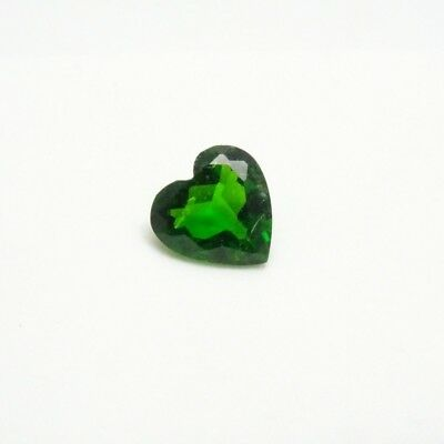 Beautiful Russian Chrome Diopside 1.0ct+ - Heart - 7x7mm - Loose Gemstone