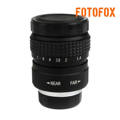 FUJIAN 25mm f/1.4 c mount cctv f1.4 lens for micro 4/3 m4/3 nex GX1 OM-D 1 black