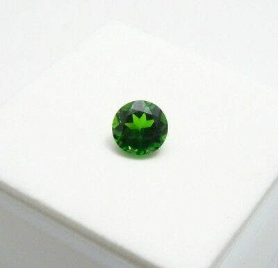 Russian Chrome Diopside 0.90ct - 6mm - Round - Loose Gemstone
