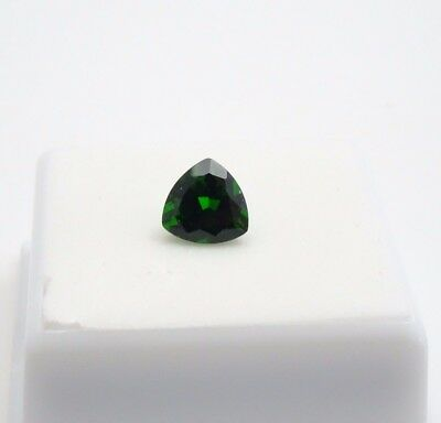 Russian Chrome Diopside 1.70ct+ - 8x8mm - Trillion - Loose Gemstone