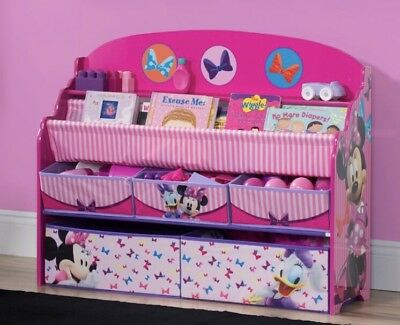 Deluxe Girls Pink Book and Toy Box Organizer Disney Great Gift For Toddlers& Mom