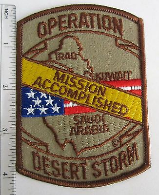 Made in USA DESERT STORM 91 MISSION ACCOMPLISHED Denmarks Military Patch