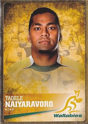 2016 Official Rugby Trading Card. Taoele Naiyaravoro Gold Parallel Card (#027)