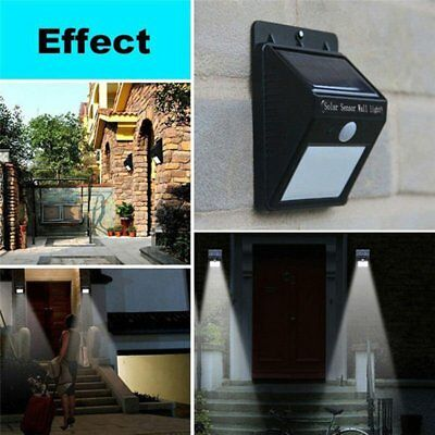 16 LED Solar Power PIR Motion Sensor Wall Light Outdoor Waterproof Garden Lamp@E