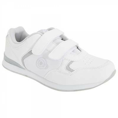 DEK Ladies Women's Skipper Bowls Shoes Velcro White T839G