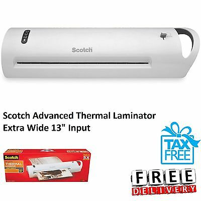 Advanced Thermal Laminator Machine 13 Inch Two Heat Settings 3 and 5 Mil Pouches