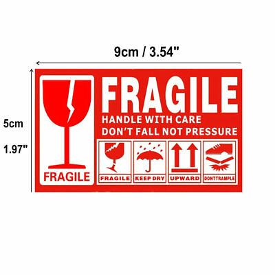 Fragile Sticker Up and Handle With Care Keep Dry Shipping Label 100pcs 9cm x5cm