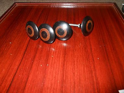 vintage pulls knobs brown lot round drawer mocambique retro rare