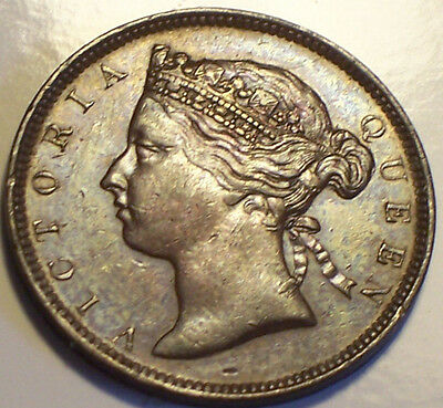 British Mauritius, 1884 Victoria Two Cents, 2 Cents. 250,000 Mintage.