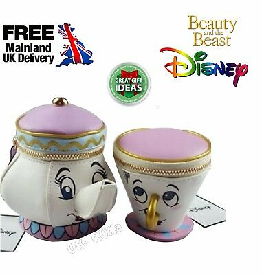 2 Piece Deal Primark BEAUTY AND THE BEAST Mrs Potts Teapot Purse Chip mug Purse
