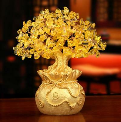 Lucky Money Tree Feng Shui Wealth Luck Home Office Decor Ornament  M size
