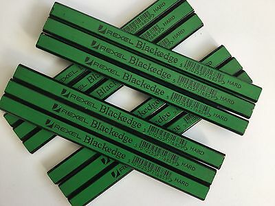 CARPENTERS PENCILS X 12 pencils (HARD) green REXEL BLACKEDGE easy sharpening
