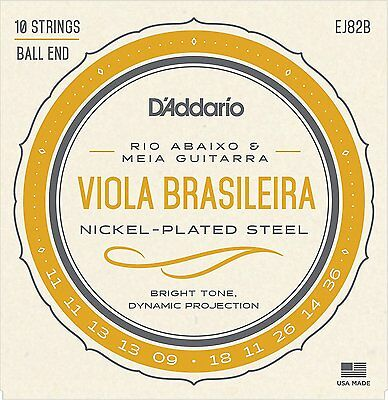 D'Addario EJ82B Nickel Plated Acoustic Guitar Strings Med 10-String Set 11-36