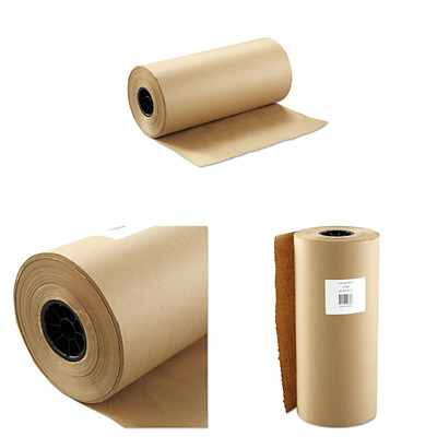 """Brown Kraft Paper Roll Shipping Wrapping Packing Department Store Lot 18""""x900ft"""