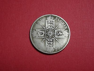 1920 1921 1928 1 One Florin GB Great Britain UK George V  Silver Argent