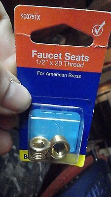 "Faucets Seats for American Brass Faucets 1/2"" x 20 Thread BrassCraft SC0751x"