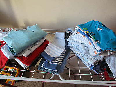 Huhe baby boy bundle size 3-6 months 47 items
