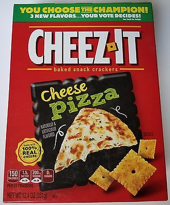 NEW Cheez-It 2017 Cheese Pizza Baked Snack Cheese Crackers FREE WORLDWIDE SHIPPI