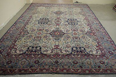 18466-Sarough Hand-Knotted/Handmade Persian Rug/Carpet Traditional Authentic